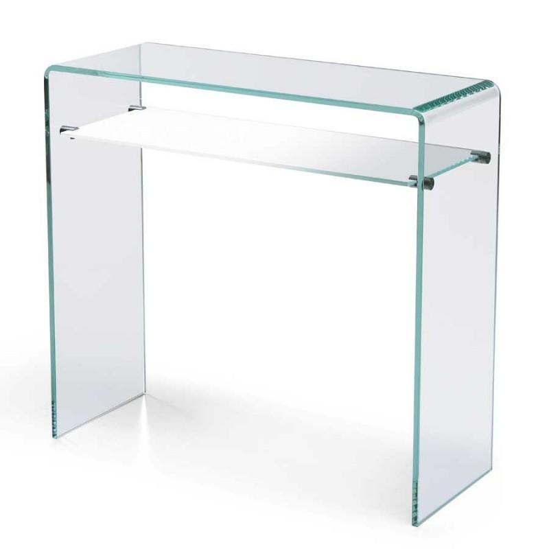 vente de console et tag re design gradient en verre. Black Bedroom Furniture Sets. Home Design Ideas