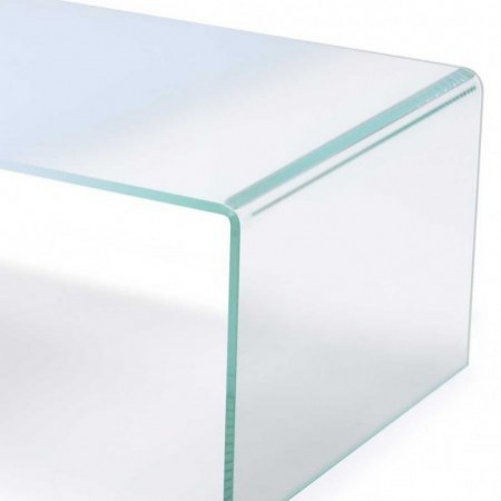 table basse gradient verre dégradé blanc 1