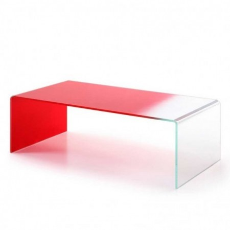 table basse gradient rouge