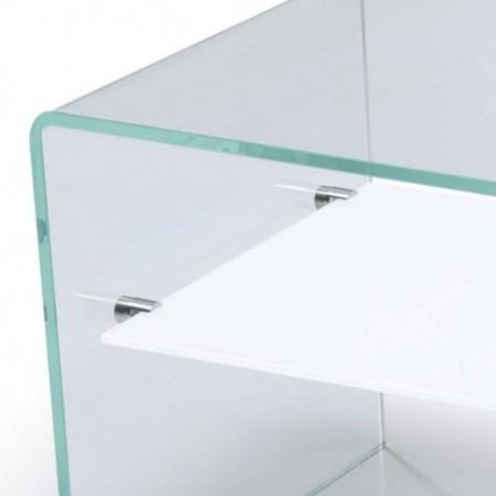 table basse gradient verre rangement 1