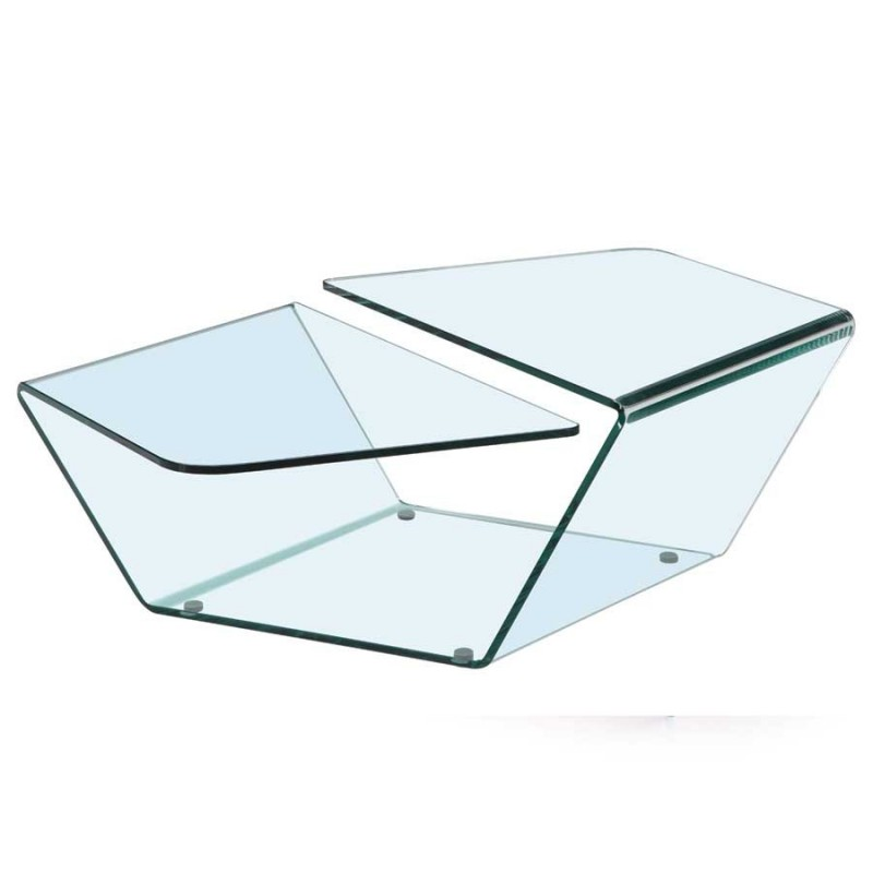 table basse helena verre croise