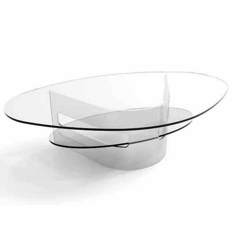 table basse verre incolore illaria