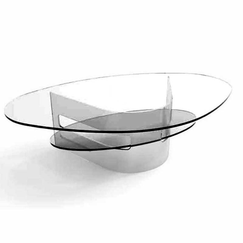 table basse verre fumé illaria