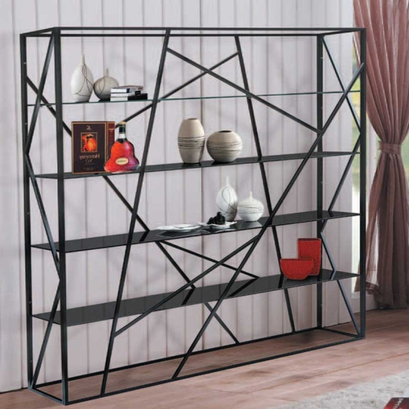 achat de biblioth que tendance kage black en m tal pas cher. Black Bedroom Furniture Sets. Home Design Ideas