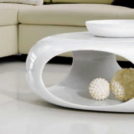 table basse kansas carre polyester blanc 1
