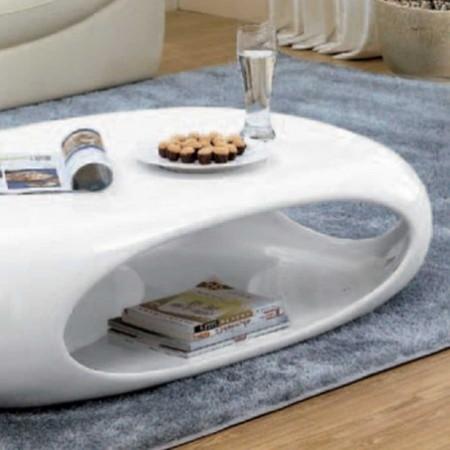 table basse kansas rectangle polyester blanc 1