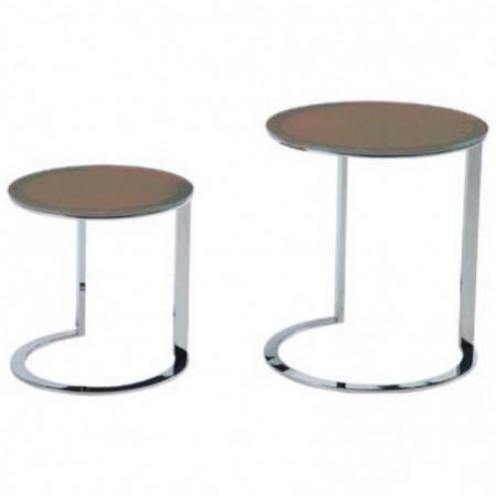 Achat de tables gigognes tendances kenny en inox prix discount for Tables gigognes verre