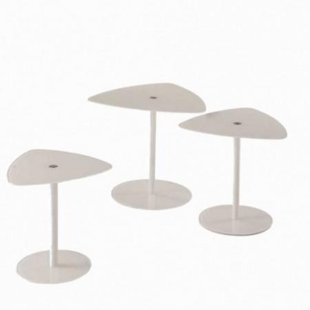 3 tables basses verre laqué champagne keywest