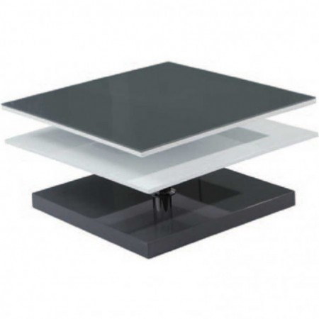 table basse kimi laqué blanc gris