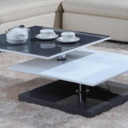 table basse kimi laqué blanc gris 1