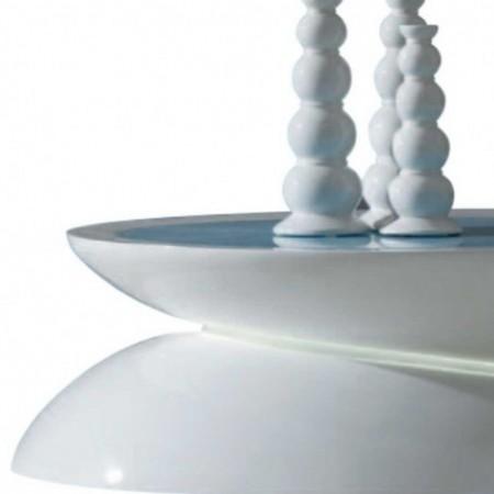 table basse koralia blanc laqué eclairage led 1