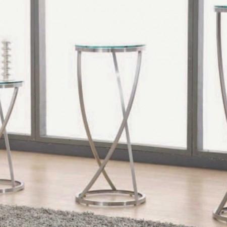 colonne monterey inox verre transparent 75cm