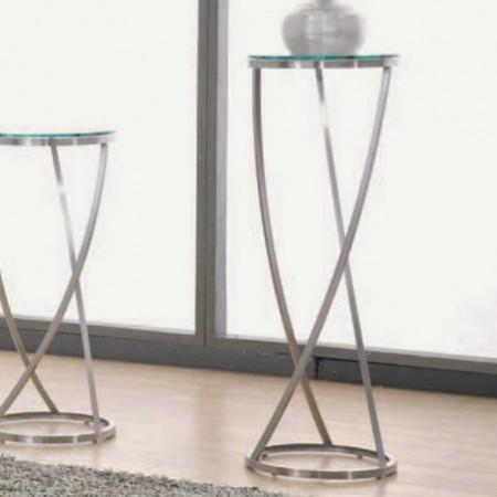 colonne monterey inox verre transparent 95cm