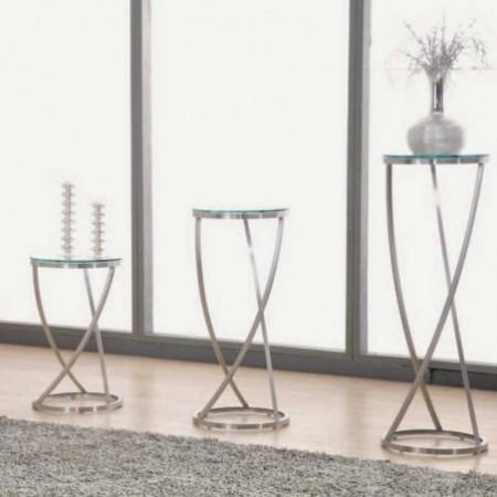 colonnes monterey inox verre transparent