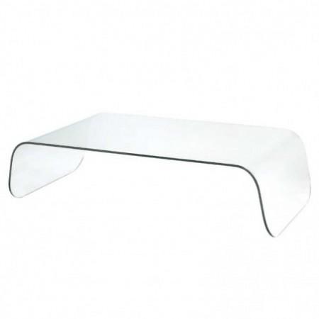 table basse verre incolore oakland