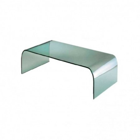 table basse verre courbé pont 1m1