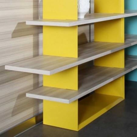 étagère rainbow jaune 1