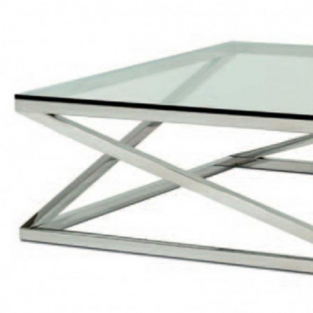 table basse carmel inox poli verre 1