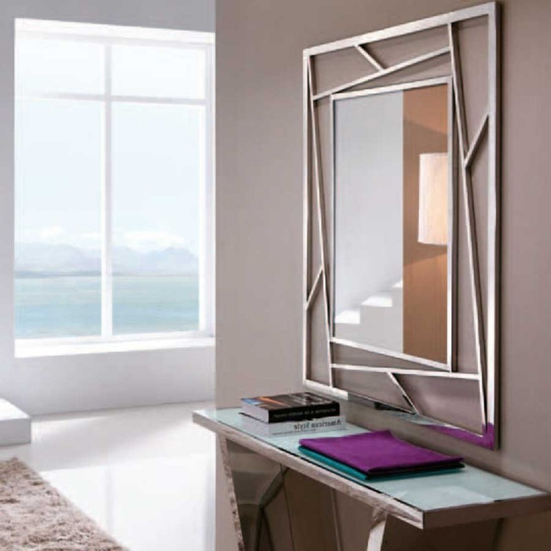 vente de grand miroir design recife en inox pas cher. Black Bedroom Furniture Sets. Home Design Ideas