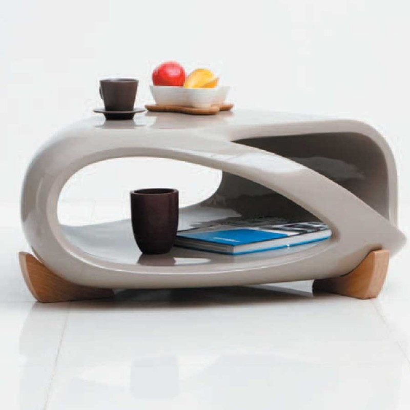 Vente De Table Basse Taupe Moderne Samoa A Prix Discount