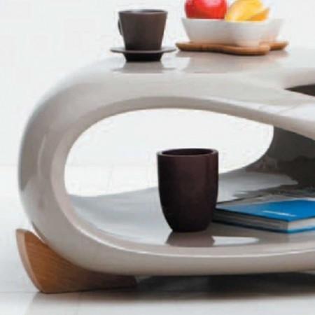 table basse samoa triangle polyester taupe bois 1