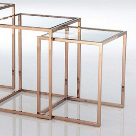 3 tables gigognes square cuivre verre 1