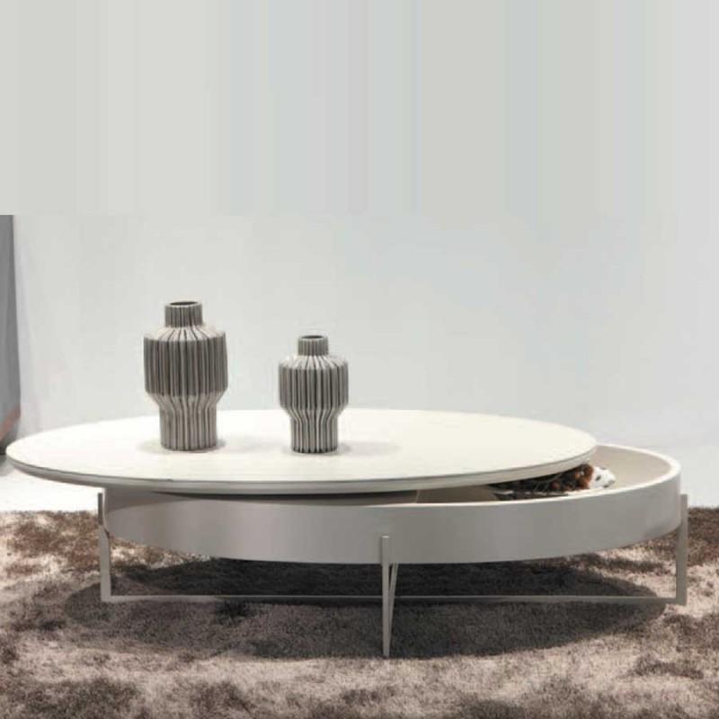 table basse céramique laqué beige mdf