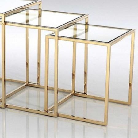 3 tables gigognes square or verre 1