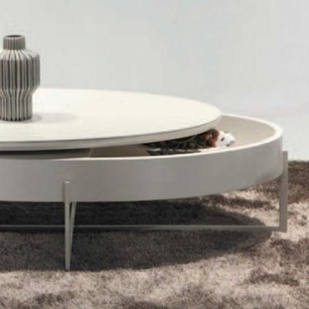 table basse céramique laqué beige mdf 1