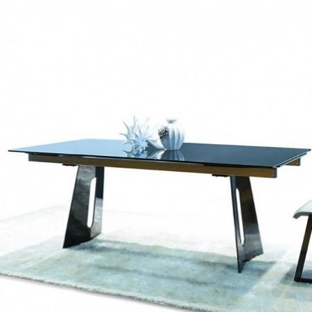 Achat de table repas design TITANE verre trempé gris à prix cassé b8877b7596cb