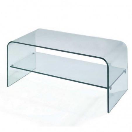 meube tv verre coube 1 étagère dallas