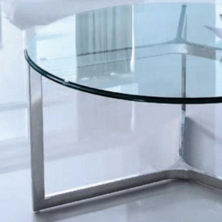 table basse denver ronde verre inox 1