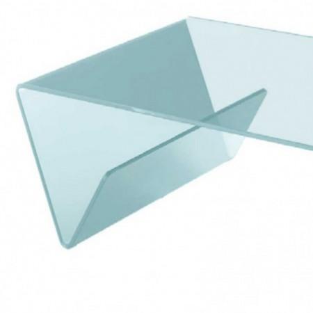 table basse verre courbé incolore aspen 1