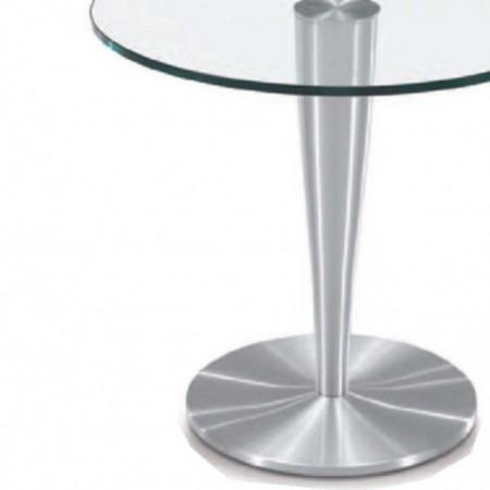 guéridon rond verre aluminium brossé detroit 1