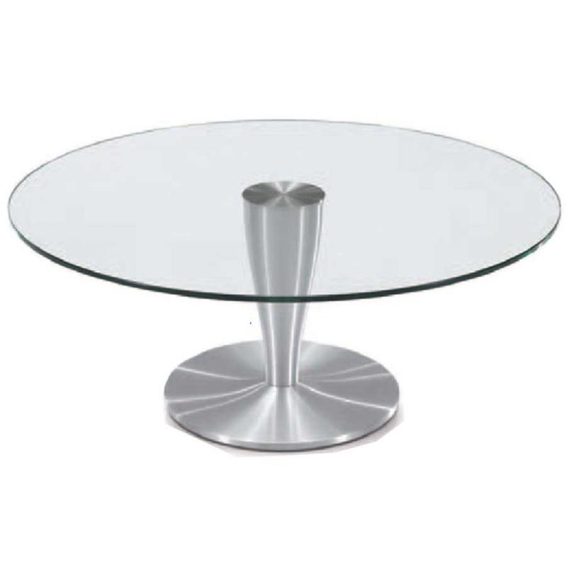 Table Basse Ronde Verre.Achat De Table Basse Alu Brosse Tendance Detroit A Prix Discount