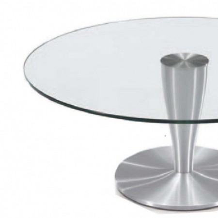 table basse ronde verre aluminium brossé detroit 1