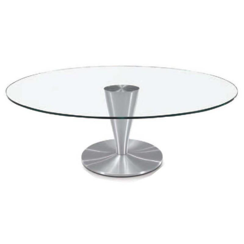 vente de table basse ovale detroit en alu bross prix cass. Black Bedroom Furniture Sets. Home Design Ideas