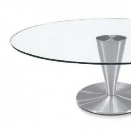 table basse ovale verre aluminium brossé detroit 1