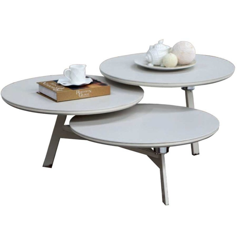 Vente de table basse moderne disko en c ramique beige pas cher - Table basse ceramique design ...