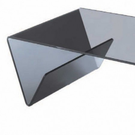 table basse verre courbé fumé aspen 1
