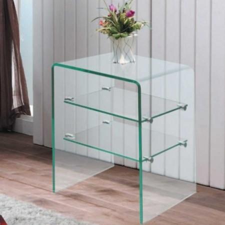 table chevet verre 2 étagère eco