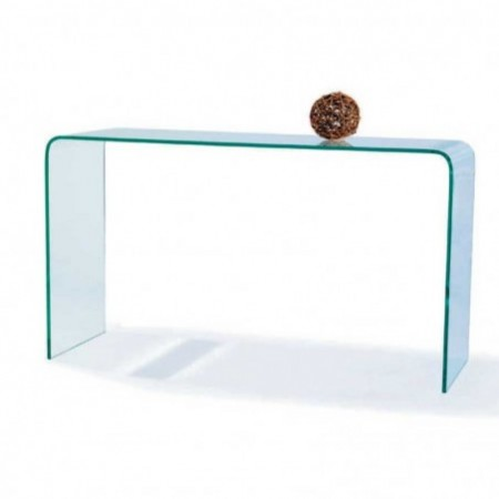 console simple verre transparent eco