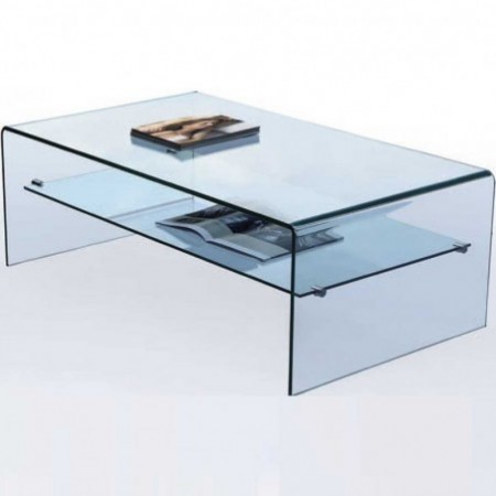 table basse eco en verre un plateau