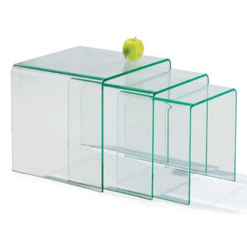 table gigogne x3 verre eco