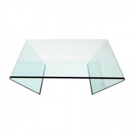 table basse edge verre courbé