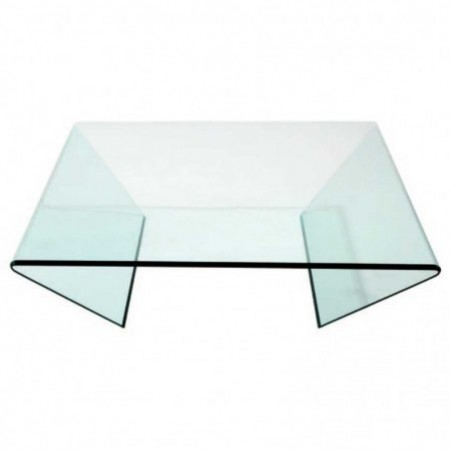 table basse edge verre courbé xl