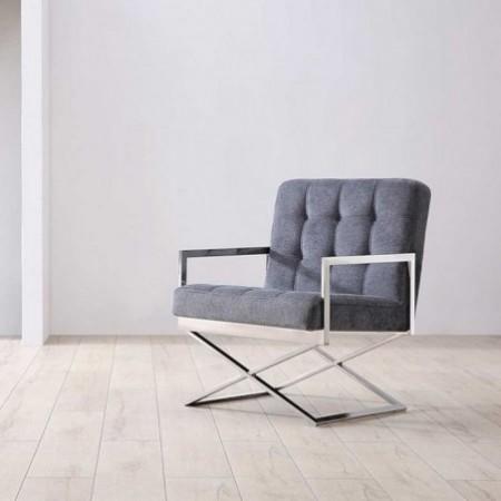 fauteuil fabrik inox tissu